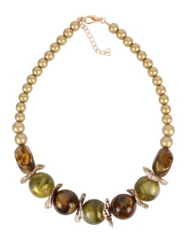 Fashion Green Beaded Necklace