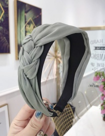 Fashion Green Cloth Handmade Twist Side Knotted Wide-brimmed Headband