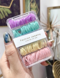 Fashion Small Circle Color (about 180) High-elastic Disposable Hair Box