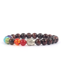 Fashion Brown Natural Stone Beaded Agate Bracelet