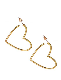 Fashion Gold Alloy Love Earrings