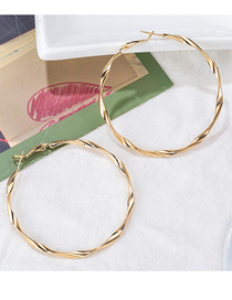 Fashion Large Gold Big Hoop Earrings