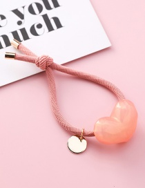 Fashion Pink Knotted Love Hair Ring