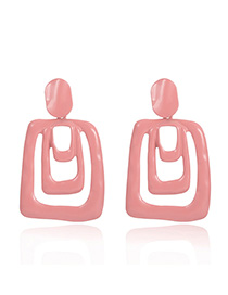 Fashion Light Pink Geometric Drip Earrings