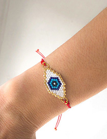 Fashion Red Braided Eye Bracelet