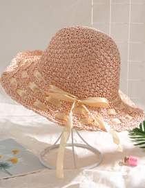 Fashion Cherry Powder Woven Straw Hat