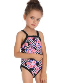 Fashion Children's Geometric Print Piece Siamese Parent-child Swimsuit
