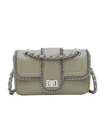 Fashion Matcha Green Locking Chain Chain Bag