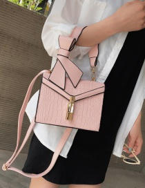 Fashion Pink Wide Shoulder Strap Slung Bow Tie Shoulder Bag