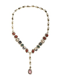 Fashion Color Geometric Resin Necklace