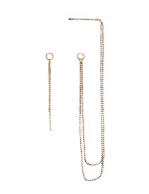 Fashion Gold Fringed Diamond Earrings Hairpin Brooch One