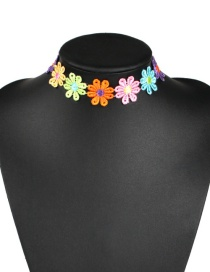Fashion Large Color Cloth Flower Collar