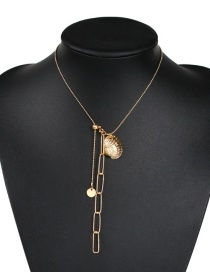 Fashion Gold Alloy Chain Shell Necklace