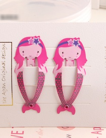 Fashion Red Mermaid Child Hair Clip