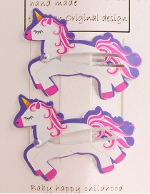 Fashion White Unicorn Child Hair Clip