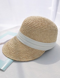 Fashion Rafi Grass Cap White Ribbon Lafite Straw Hat