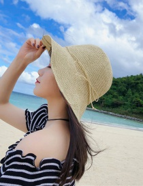 Fashion Beige Straw Hat
