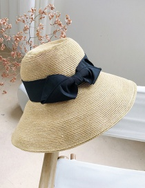 Fashion Black Straw Big Visor
