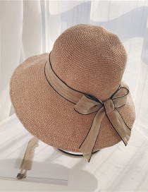 Fashion Pink Bow Big Straw Hat