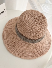 Fashion Pink Paper Weaving Light Board Color Strips Big Hat