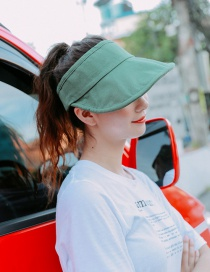 Fashion Green Canvas Empty Top Sun Hat