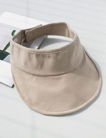 Fashion Beige Canvas Empty Top Sun Hat