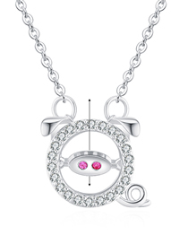 Simple Silver Color Pig Shape Decorated Necklace