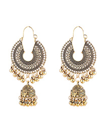 Fashion Gold Tassel Bell Earrings