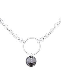 Fashion Platinum + Silver Phantom Crystal Necklace - Ring