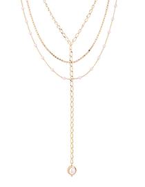 Fashion 14k Gold Plated Gold Necklace - Eyelids