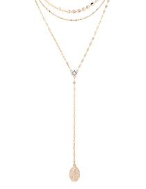 Fashion 14k Gold Zircon Necklace - Shine