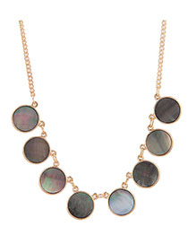 Fashion Gold Metal Shell Necklace