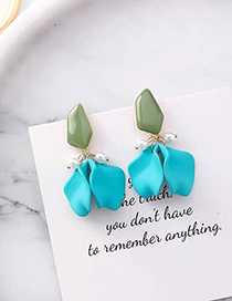 Fashion Blue Petal Earrings