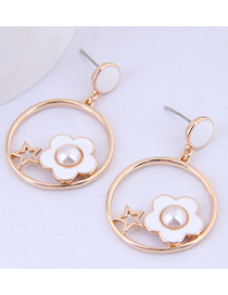 Fashion White Flower Earrings