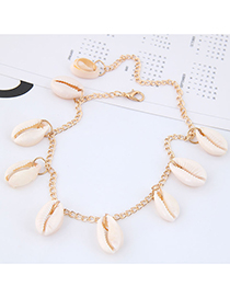 Fashion Gold Metal Conch Anklet