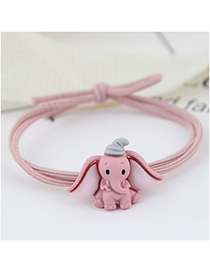 Fashion Bean Paste Powder Baby Elephant Hair Ring