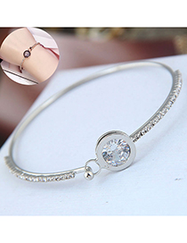 Fashion Silver Flash Diamond Zircon Bracelet
