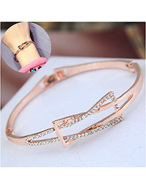 Fashion Gold Flash Drill Knotted Bracelet