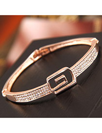 Fashion Gold Flash Diamond Bracelet