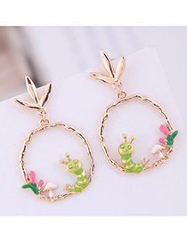 Fashion Green Simple Insect Earring