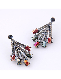 Fashion Red Flash Drill Earring