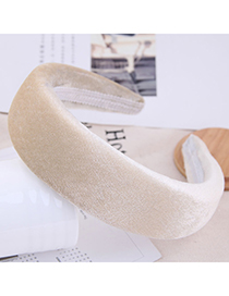 Fashion White Thickened Headband