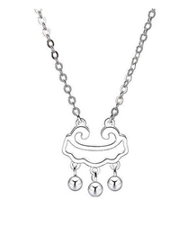 Fashion Silver Copper Plated Gold Long Life Lock Necklace