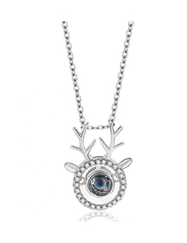 Fashion Silver Copper Plated Gold All The Way (deer) Has Your Necklace