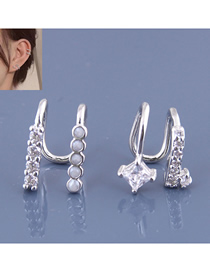 Fashion Silver Copper Plated Gold Ear Clip