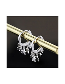 Fashion Silver Copper Plated Gold Metal Meteor Earrings