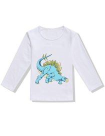 Fashion White Dinosaur 3d Printed Children's T-shirt