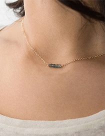 Fashion Gold Crystal Stainless Steel Gold-plated Necklace