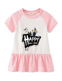 Fashion Pink Cartoon Girl Suit Dress