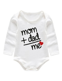 Fashion White Printed Triangle Baby Onesies